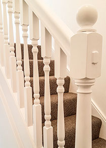 Stairs with balustrade.